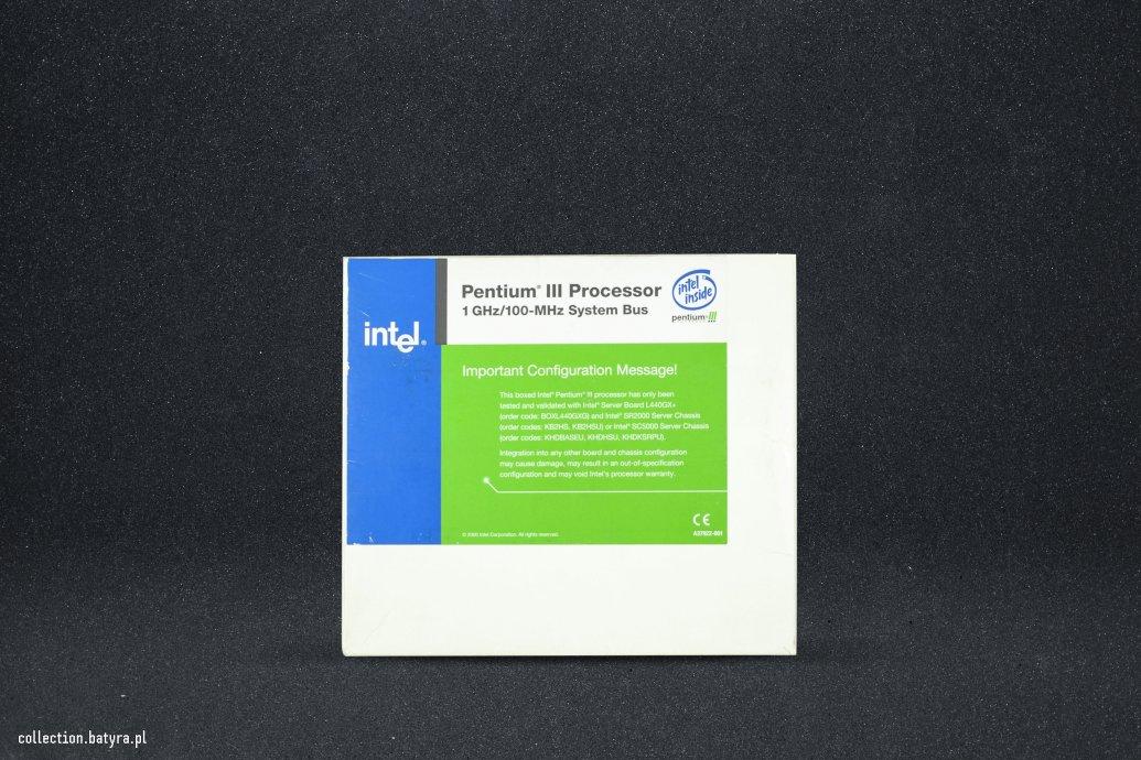 CPU Pentium III 1Ghz/100Mhz Box