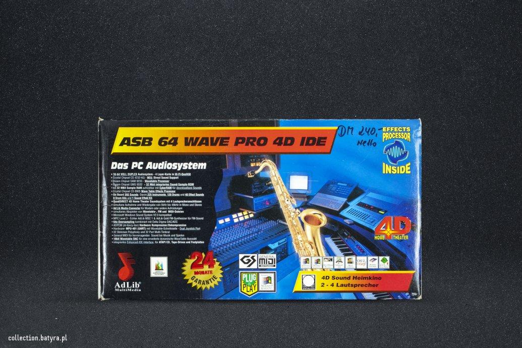 Adlib Multimedia ASB 64 Wave Pro 3D