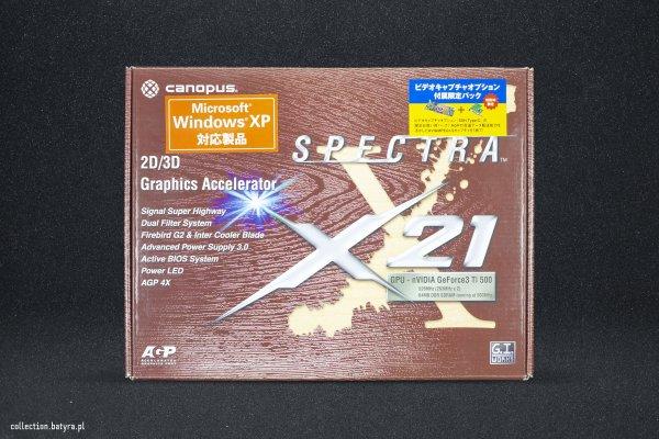 GeForce 3 Ti 500 Canopus Spectra X21