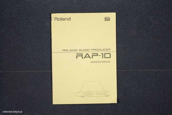 Roland RAP-10/AT manuals
